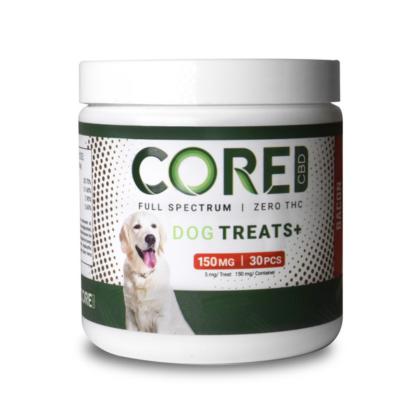 Core CBD - CBD Pet Edible - Bacon Flavor Dog Treats - 150mg