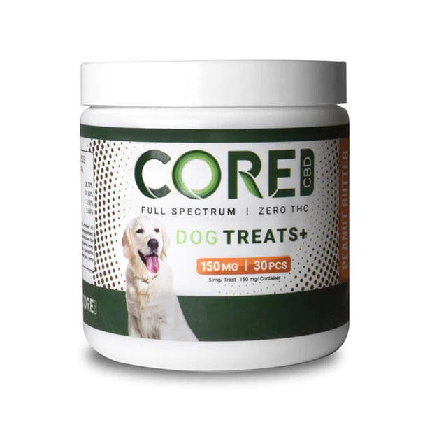 CBD Peanut Butter Dog Treats - 150mg by Core CBD