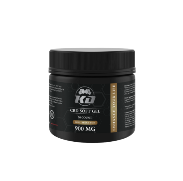 Soft Gel - CBD Capsule - 900mg by Knockout CBD