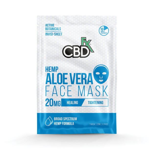 CBD Face Mask with Aloe Vera - 20mg by CBDfx