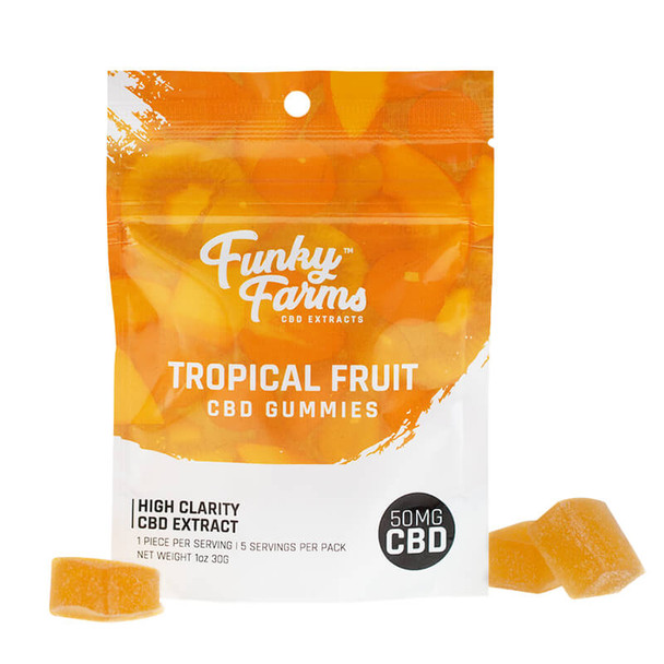 Funky Farms - CBD Gummies - Tropical Fruit - 50mg