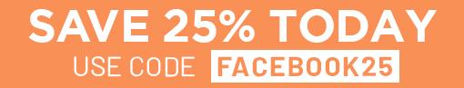 Facebook 25% Off