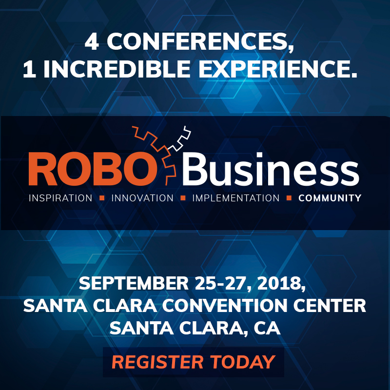INGENIA to exhibit at ROBO Business 2018 tin Santa Clara September 25th to 28th.