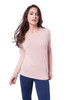 Style No. D-55   Our stretchy modal fabric is lightweight and comfortable. Features a relaxed fit and drop shoulder style sleeves. Machine washable for easy cleaning and long-lasting wrinkle-free wear. AtoZ, A to Z, basic, travel, vacation, tee, top, work