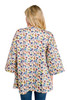 Loose Fit Print Cotton Jacket with Pockets