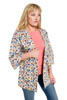Style No. GJ-2   Show off your style with this print jacket, made with 100% stretch cotton fabric. It feels great as this soft Turkish cotton is breathable and not stiff or heavy. Perfect for the office and comfortable enough to wear all day with leggings or jeans, this cardigan jacket comes in anemone print. Our durable fabric is machine washable and wrinkle-free for easy cleaning. AtoZ, A to Z, anemone, print, travel, vacation, work