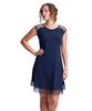 Shirin Mesh Cap Sleeve Dress