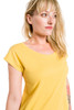 Sweetheart Neck Loose Fit Cap Sleeve Cotton Top
