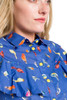 Ruffle Birds Swatch.jpg Print Cotton Blouse