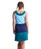 Shirin Color Blocked Sleeveless Dress