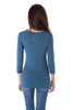 Scoop Neck 3/4 Sleeve Fitted Top