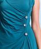 Shirin Side Ruched Botton Dress
