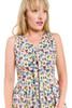 Mid-Calf Lace up Print Dress