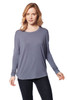 Circle Neck, Long Sleeve, Bat Wing, Modal Relaxed Top, casual top, tee