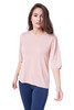 Style D-70  Elbow sleeve top is lightweight and casual, perfect for wearing with skirt or jeans. Made with our ultra-soft modal, this stretchy fabric will stay wrinkle-free so you can wear it all day long. Features geathered shoulder elbow sleeves, a crew neck and an loose fit. Machine washable for easy cleaning.  .