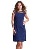 Shirin Mesh Shoulder Cap Sleeve Dress