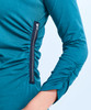 Shirin Side Zip Ruched Tunic