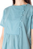 Side Button Short Sleeve Cotton Top