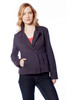 Women Fitted 3 ply 100% Cotton Jacket with Pockets, Long Sleeve and standard hem length, machine wash