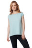 Style B-F37  Cap sleeve boat neck tee is both lightweight and comfortable. Made with 100% tissue-weight Turkish cotton, this cap sleeve top is a must-have in your drawer. Loose-fitting and perfect for pairing with your favorite jeans or skirts. Our durable fabric is designed to keep its shape and soft texture even with repeated machine washing. Basic, tee, top, AtoZ, A to Z
