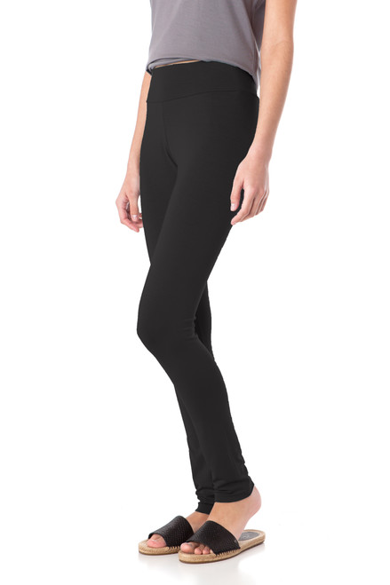 Style DL-2   The softest leggings you?ll ever own. Our long cotton leggings are made with the finest modal and Turkish cotton and the natural fibers keep their soft feel and luster even after being machine washed. These high-waisted leggings have an elastic waistband and a lightweight feel. Perfect for wearing under casual dresses and tunics, or for lounging in at home. 95% modal, 5% elastane. Machine washable and wrinkle-free. Hang dry for best results. AtoZ, A to Z, basic, yoga, travel, vacation, work