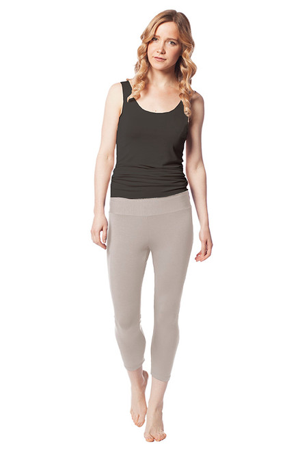 Style No: DL-1  The softest leggings you'll ever own. Our cropped cotton leggings are made with the finest modal and Turkish cotton and the natural fibers keep their soft feel and luster even after being machine washed. These high-waist leggings have an elastic waistband that are comfortable and won't be too tight on your tummy. With a lightweight feel, these opaque leggings are perfect for wearing under casual dresses and tunics, or for lounging in at home. AtoZ, A to Z, basic, yoga, bottom, pants