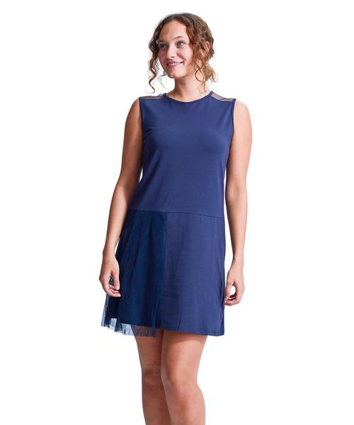 Shirin Mesh Flapper Sleeveless Dress