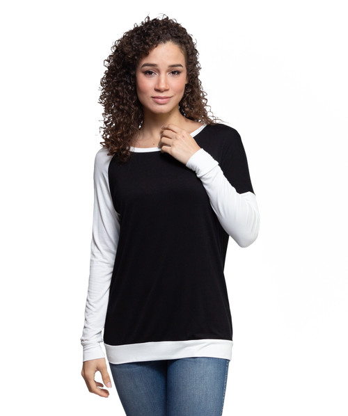 Asymmetric Sleeve Top