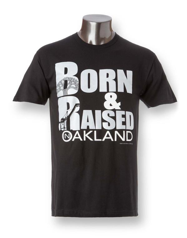 Men's Crew Neck Born & Raised Shirt Fabric laundered, 4.3 oz., 100% combed ringspun cotton
