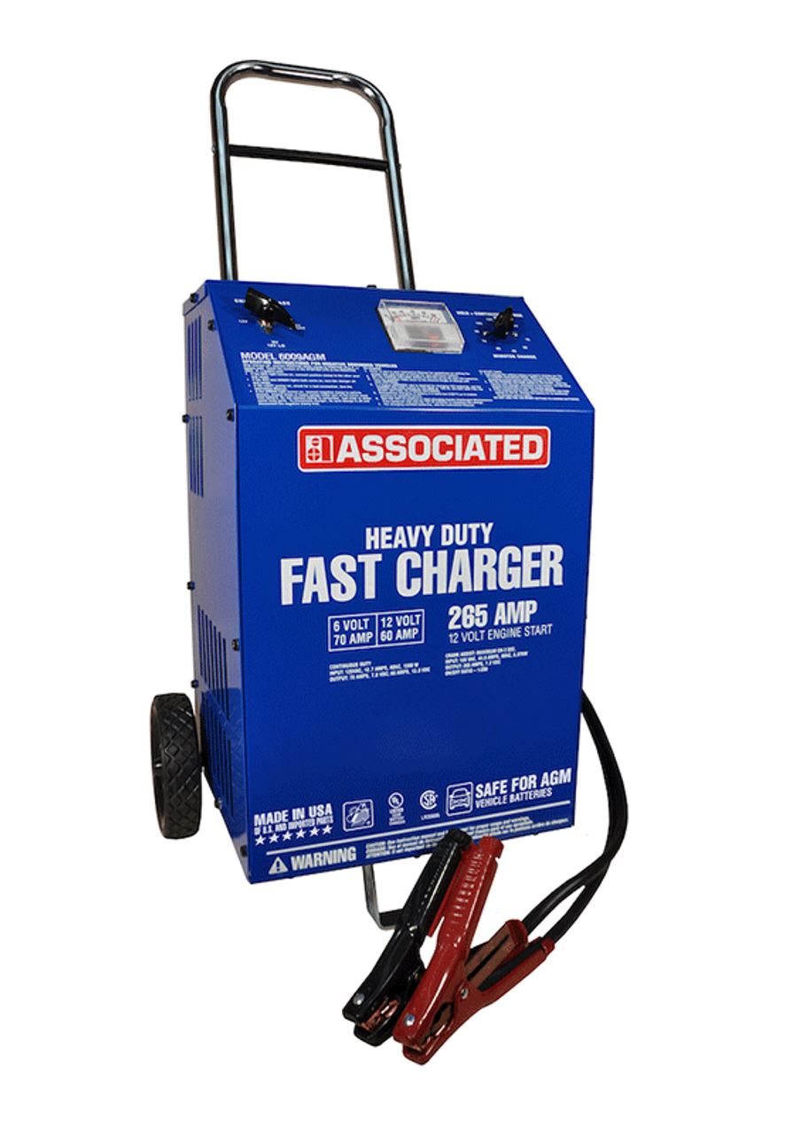 6009AGM Associated 70/60/2/265 Amp 6/12 Volt Automotive Battery Charger W/ Start