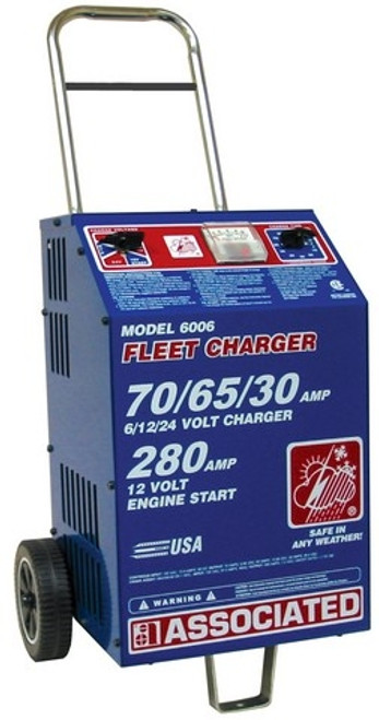 6006 Associated Equipment Charger 6/12/24V 70/65/30A, 280 Amp Cranking Assist