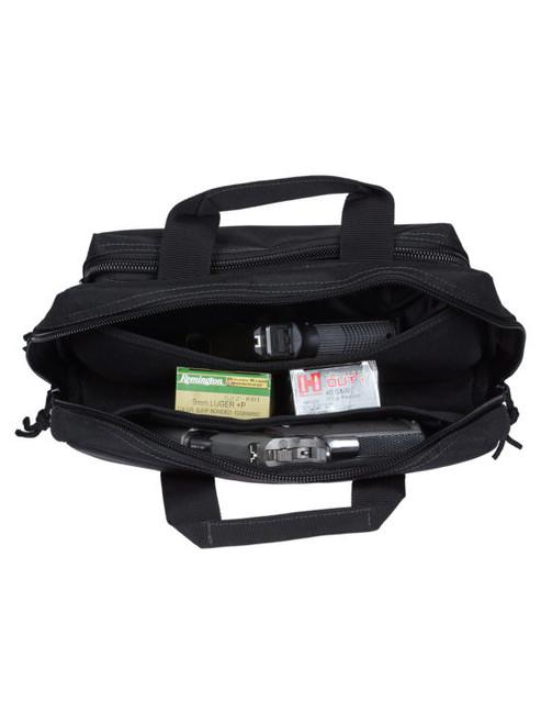 Drago Gear   Double Pistol Case 5 Internal Magazine Holders - Black