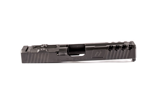 ZEV Technologies 3rd Gen Z17 Stainless Steel Slide - Spartan Signature cut w/RMR Optic Cut & Absolute Co-Witness, Black (DLC) Coating.