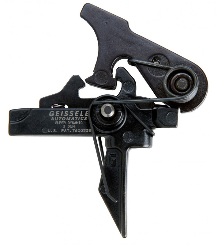 The Geissele Super Dynamic 3 Gun (SD3G) trigger is the flat trigger bow version of the Geissele Super 3 Gun (S3G) trigger.