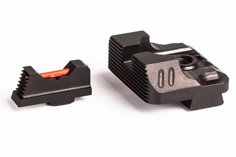 ZEV Technologies Sight Set - .215 Fiber Optic Front Sight / Rear Combat v3 Black