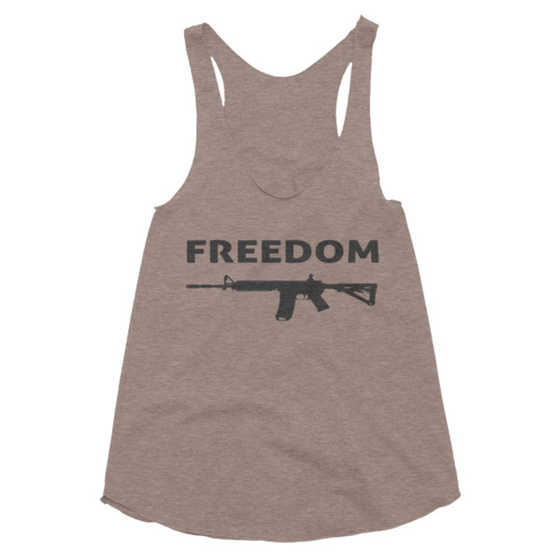 Patriot Defense |  Women's Freedom Tri-Blend Racerback Tank