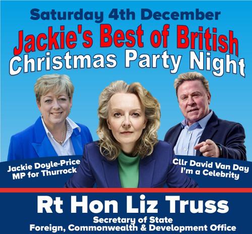 Jackie & Liz Truss Christmas Party