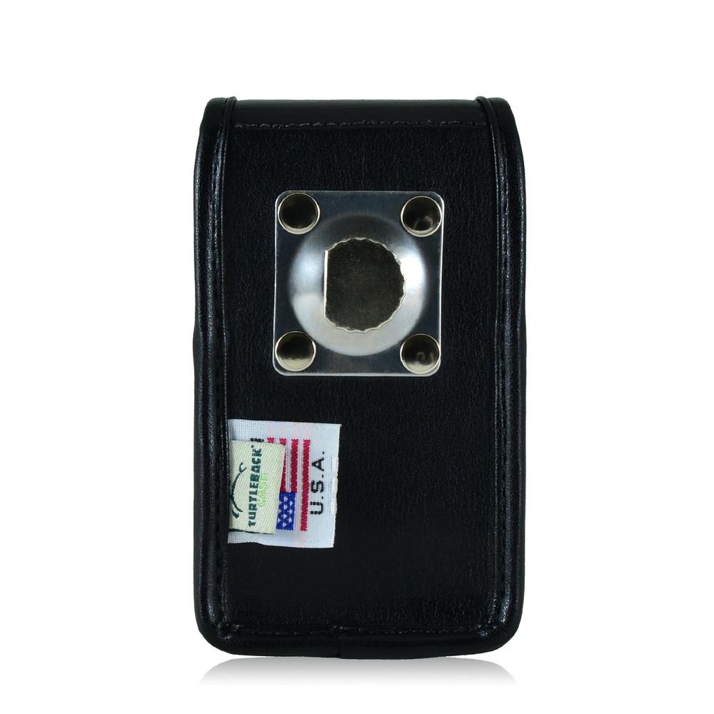Blackberry 8520 9360 9700 Leather Holster, Metal Belt Clip