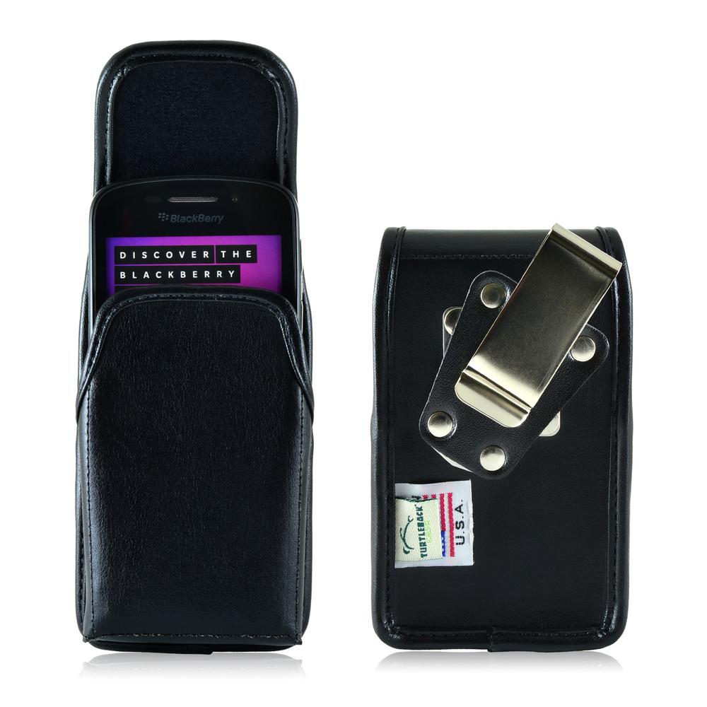 Blackberry Q10 9900 9600 Leather Holster, Metal Belt Clip