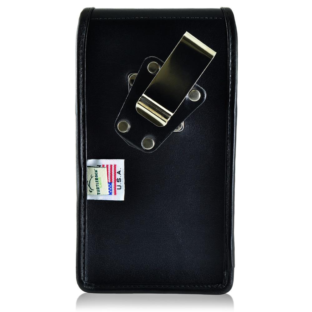 BLU Studio 6.0 HD Vertical Leather Holster Case Metal Clip