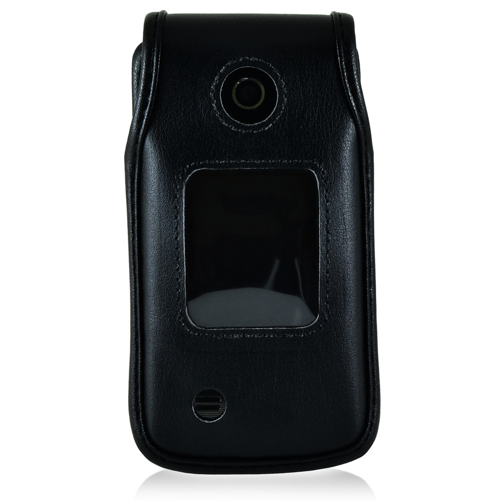 LG Terra VN 210 Leather Fitted Case Black Belt Clip