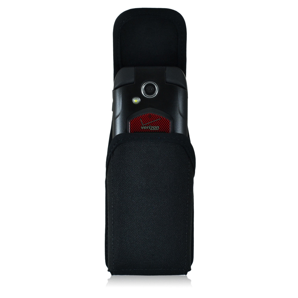 Kyocera Flip Phone Universal Vertical Nylon Holster Case, Metal Clip