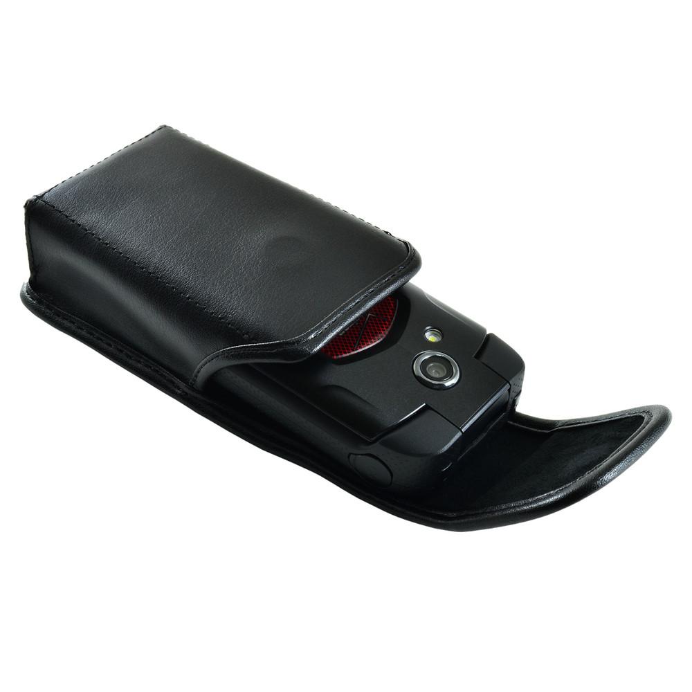 Kyocera Flip Phone Universal Leather Holster Case, Metal Clip