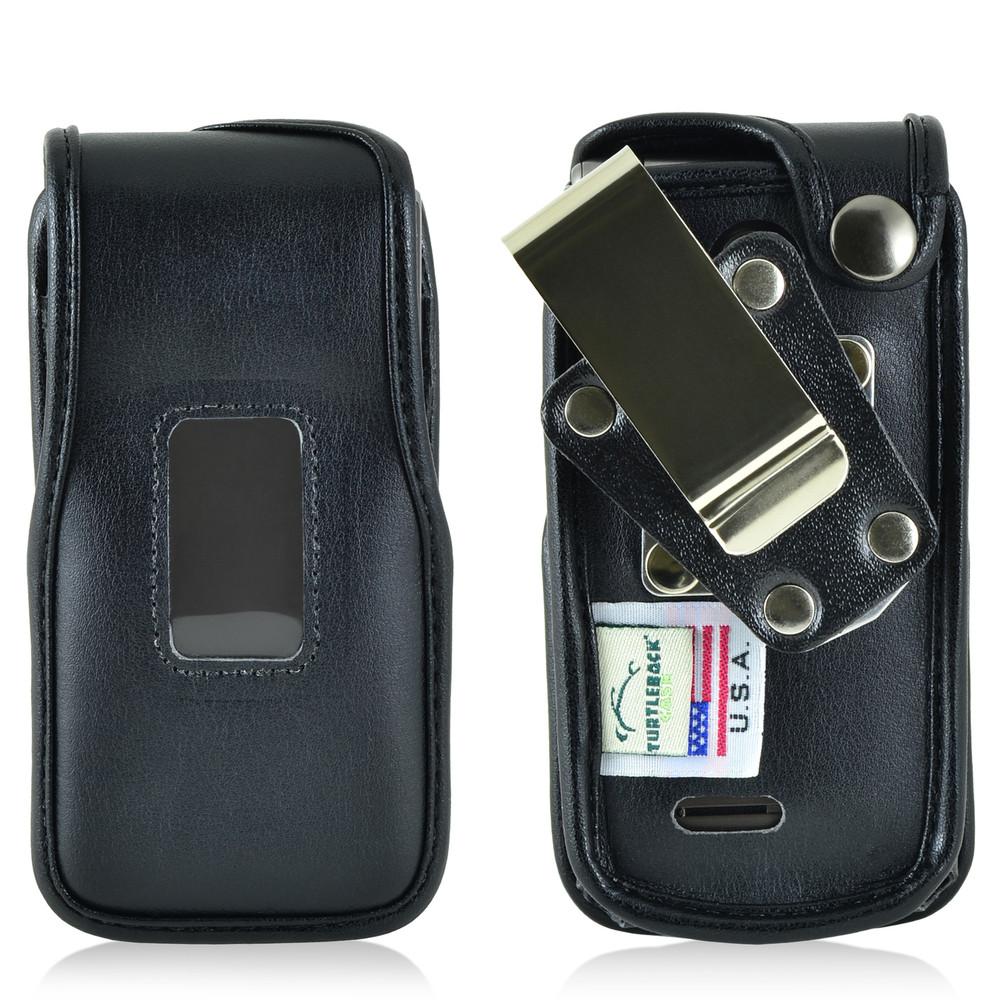 LG Exalt 2 IIVN370 Leather Fitted Phone Case, Metal Belt Clip