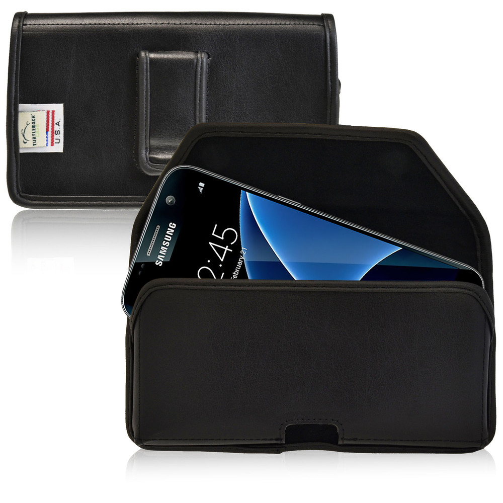 Galaxy S7 Horizontal Leather Fixed Clip Holster