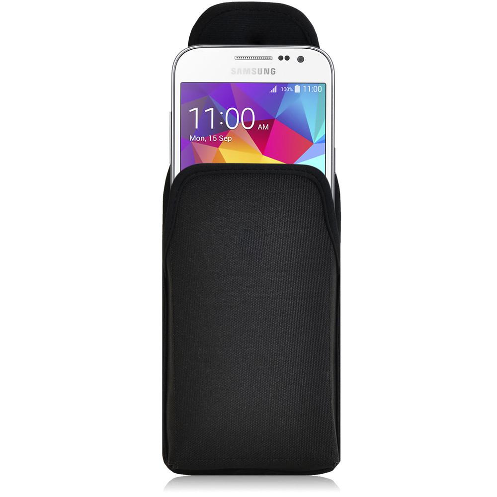 Galaxy Core Prime Vertical Nylon Holster Case, Metal Belt Clip