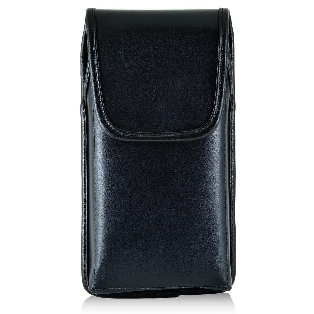 reputable site 5530f 45dea LG V10 Vertical Leather Holster Case Black Belt Clip