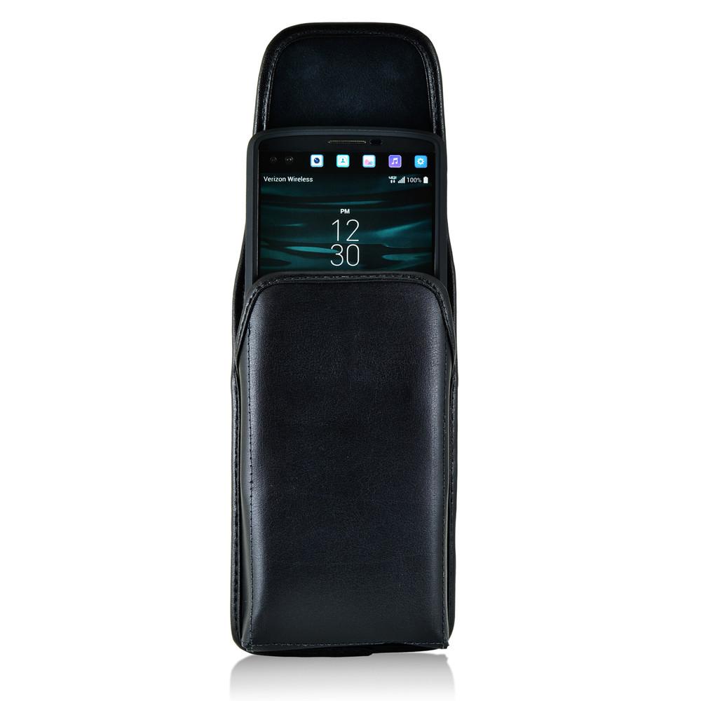 huge selection of 277da 799ff LG V10 Vertical Leather Holster Case Metal Belt Clip