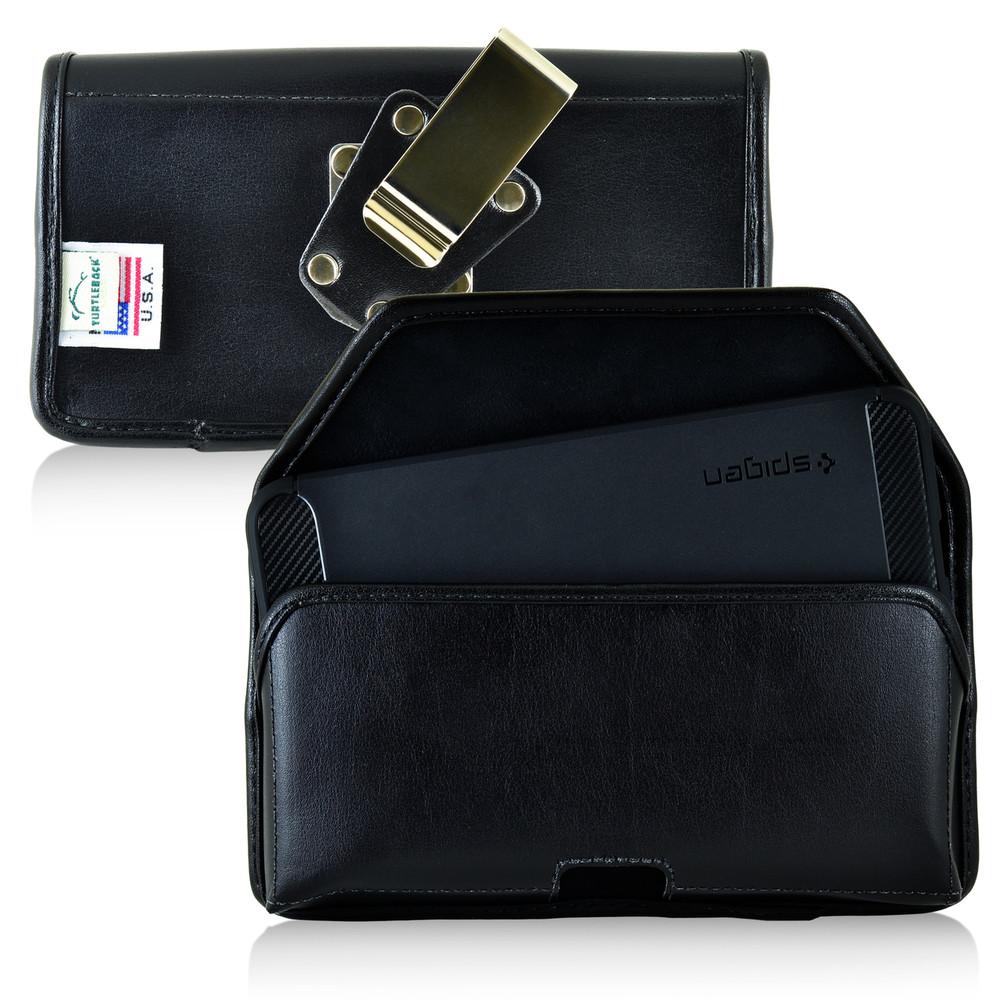 Nexus 6P Leather Holster Case Metal Belt Clip