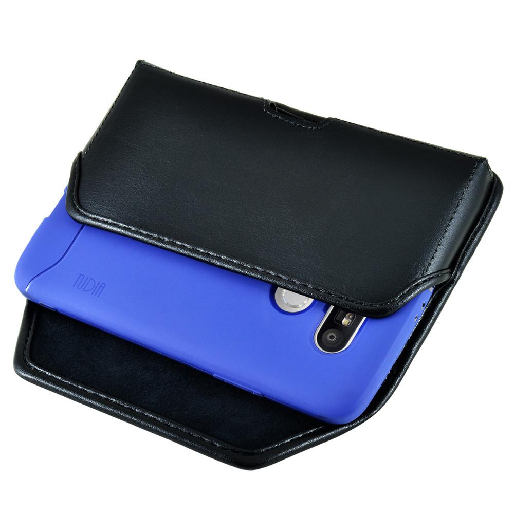 huge selection of a8664 c607c Turtleback LG G5 Leather Holster Case, Black Belt Clip